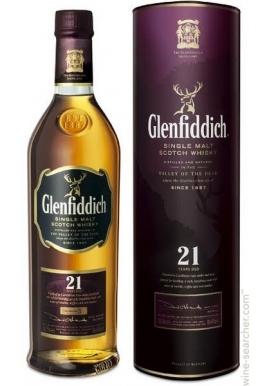 WHISKY GLENFIDDICH 21 AÑOS 750 CC.